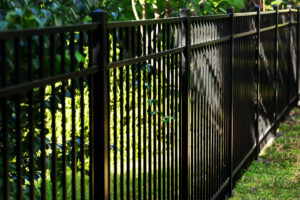 Black Aluminum Fence with 3 rails around your house